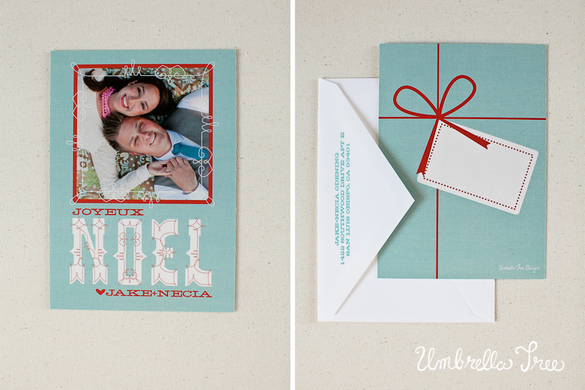 Here is our 2011 Christmas Card, designed with a tag on the back to write ...