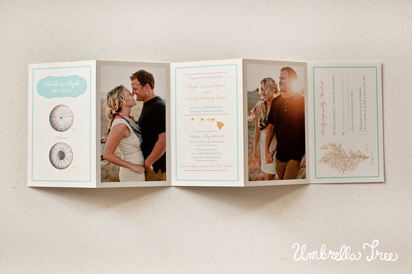 Wonderful wedding invitation | Umbrella Tree Design UG24